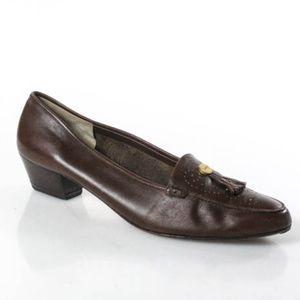 Salvatore Ferragamo Brown Leather Loafers 10 AA